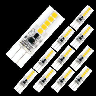 MILI 10er Set Leuchtmittel 180lm klar 1, 8W G4 3000K 12V