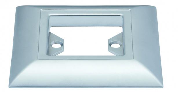 Paulmann Profi Aufbauring rostfrei eckig UpDownlight Quadro LED 80mm Chrom matt/Alu