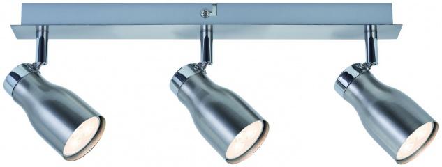 Paulmann 602.70 Spotlights MeliLED Balken 3x3, 5W GU10 230V Nickel satiniert Metall