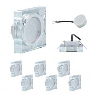 6er Set Einbauleuchte 5W 3000K Warmweiss 230V 400lm Klar inkl. austauschbare LED Modul geringe Einbautiefe