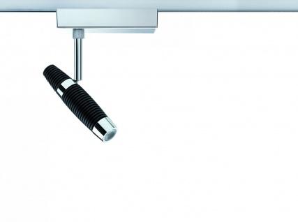 Paulmann 951.13 URail Schienensystem Light&Easy Spot Channel 1x10W Schwarz/Chrom 230V Metall