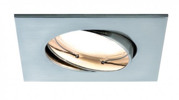 Paulmann Premium Einbauleuchte Set Coin dimmbar satiniert eckig schwenkbar LED 3x7W 2700K 230V 51mm Eisen gebürstet/Alu Zink