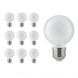 10 x 28323.10 Paulmann E27 Fassung LED Globe 60 4W E27 230V Satin 2700K