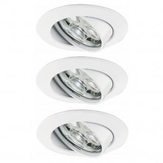 Paulmann Premium Einbauleuchte Set Power Flood LED 3x3W 10VA 230V 83mm Weiß/Alu Zink