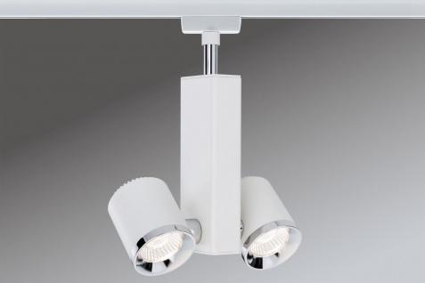 Paulmann URail Schienensystems Spot TecLED II 2x6, 5W Weiß/Chrom 230V Metall - Vorschau 2