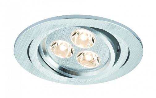 Paulmann 925.30 Premium Einbauleuchte Set Aria rund schwenkbar LED 3x3W 350mA 9VA 94mm Alu gebürstet