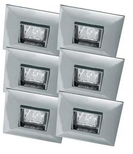 Premium EBL Set schwenk Quadro 6x35W 2x105VA 230/12V GU5, 3 90mm Chrom/Alu Zink