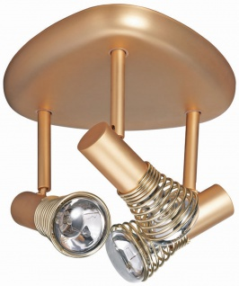 664.19 Paulmann Spotlights Betula Rondell 3x40W E14 Gold matt 230V Metall