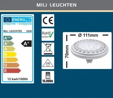 MILI Qpar111 LED Leuchtmittel 12W GU10 3000K Warmweiss 230V 900lm Chrom matt - ersetzt 90W Halogen ES111 - 45° Astrahlwinkel - Vorschau 3
