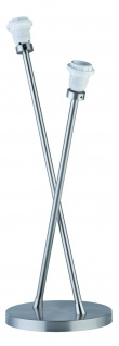 Paulmann Living 2Easy Tischleuchte Basic 2x11W Energiesparlampe E27 DecoPipe Eisen gebürstet 230V Metall