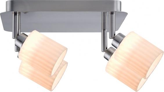 Paulmann Spotlights Zylino Rondell 4x3W Eisen gebürstet/Weiß 230V Metall/Glas