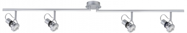 Paulmann 665.37 Spotlights Ring Energiesparlampe 4x11W GU10 Chrom matt 230V Metall