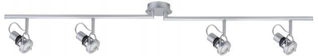 Paulmann Spotlights Ring Energiesparlampe 4x11W GU10 Chrom matt 230V Metall