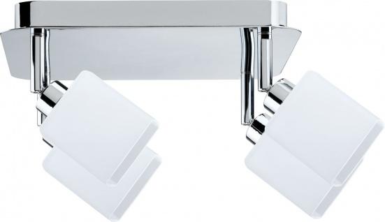 Paulmann 601.29 Spotlights Quad Rondell 4x9W GZ10 Chrom/Weiß 230V Metall/Glas