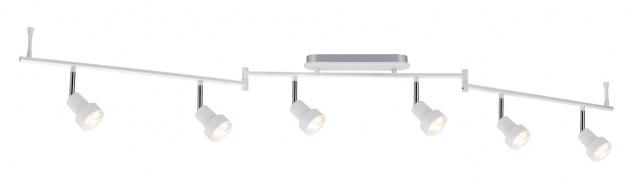 Paulmann 602.29 Spotlight Arioso Stange 6x3W Weiß matt 230V Metall - Vorschau 2