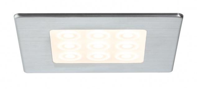 Paulmann 935.58 Möbel Einbauleuchte Set LED eckig PIR Sensor Bewegungsmelder 3x3, 6W 12VA 230/12V 20mm Edelstahl