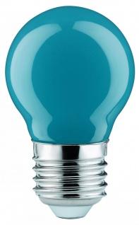 10 Stück 280.34 Paulmann E27 Fassung LED Tropfen 0, 6W E27 Blau