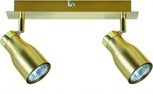 Paulmann 666.00 Spotlights Tinka Balken 2x50W GU10 Messing gebürstet 230V Metall