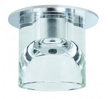 Paulmann Quality Einbauleuchte Glassy Tube max.20W 12V G4 Ø83mm Klar/Chrom Glas/Metall