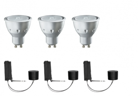 Paulmann 926.06 2Easy Einbauleuchte Basis-Set LED 3x3, 5W 230V GU10 51mm