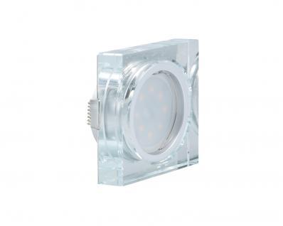 LED Einbauleuchte Quadro inkl. 5W 4000K 230V Modul flache Einbautiefe 35mm Klar/Glas