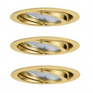 Paulmann Möbel Einbauleuchte Set Dress schwenkbar 3x20W 60VA 230/12V G4 70mm Gold/Alu