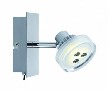 601.95 Paulmann Wandleuchten Spotlight Gloria LED Balken 1x5W Nickel gebürstet 230/12V Metall/Glas