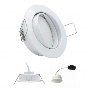 Einbauleuchte 5W 3000K 230V 400lm Weiss inkl. austauschbare LED Modul geringe Einbautiefe