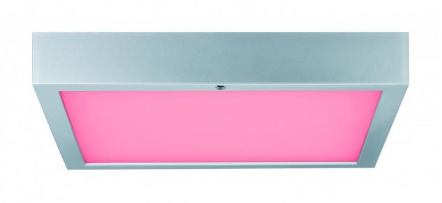 Paulmann WallCeiling Space LED-Panel RGBW 300x300mm 15, 5W 230V Chrom matt Weiß Kunststoff