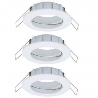 Paulmann 2easy Premium Einbauleuchte 3er Spot-Set IP44 starr 51mm Weiß