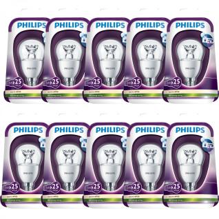 10x 3W LED Leuchtmittel Philips E14 Warmweiß 250Lumen 2700K A+ Klar 25W Hell