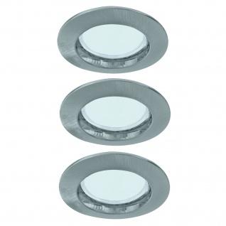 Paulmann 994.85 Premium Einbauleuchte Set starr Energiesparlampe 3x11W 230V GU10 51mm Eisen gebürstet/Alu zink