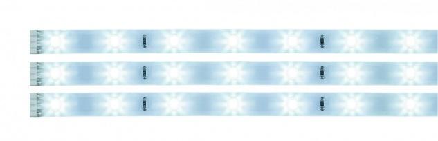 Paulmann Function YourLED Stripe Pack 3x97cm Tageslichtweiß 3x3, 12W 12V DC Weiß Kunststoff