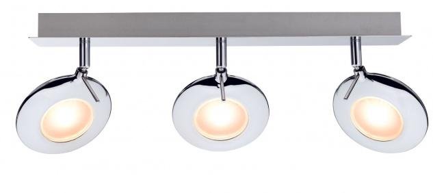 Paulmann 602.52 Spotlight Orb Balken 3x3W Chrom 230V Metall