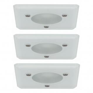 Paulmann 994.75 Premium Einbauleuchte Set Aqua Mood eckig IP44 3x35W 105VA 230/12V GU5, 3 51mm Glas