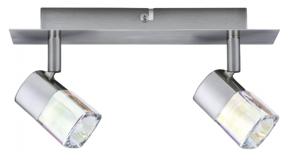 Paulmann Spotlights Hoya Balken 2x42W G9 Nickel satiniert/Glas dichroic 230V Metall/Glas