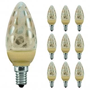 10 x 28090.10 Paulmann E14 Fassung LED Kerze 1, 4W E14 Krokoeis gold