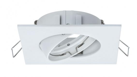 Paulmann 2Easy Premium Einbauleuchte 3er Spot-Set Quadro schwenkbar 51mm Weiß matt