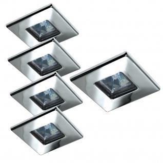 Paulmann Quality Einbauleuchte Set Quadro 5x20W 105VA 230/12V GU5, 3 82mm Chrom/Stahlblech