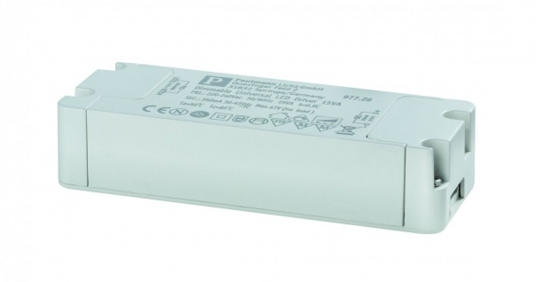 Paulmann LED Trafo Transformator Konstantstrom 350mA 15W dimmbar Weiß