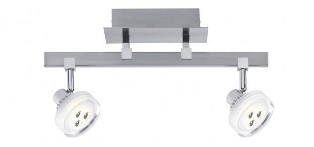 Paulmann Spotlight Gloria LED Stange 2x5W Nickel gebürstet 230/12V Metall/Glas