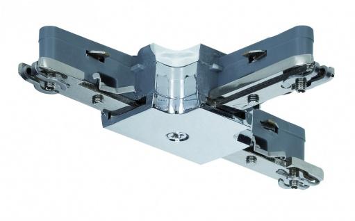 968.71 Paulmann U-Rail Einzelteile URail System Light&Easy T-Verbinder max.1000W Chrom 230V Metall/Kunststoff