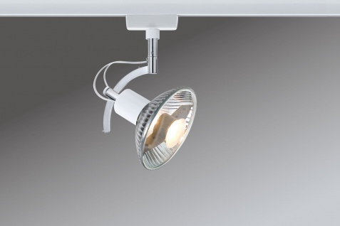 Paulmann 976.91 URail Schienensystem Light&Easy Spot Roncalli 1x50W GU10 Weiß 230V Metall - Vorschau 1