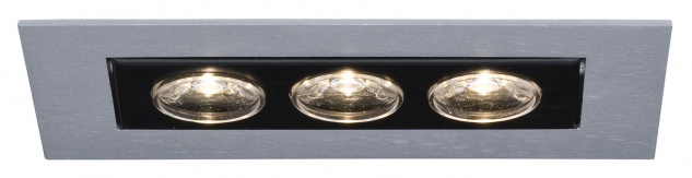 Paulmann Premium Einbauleuchte Cardano LED 1x(3x1W) 350mA Chrom matt/Alu
