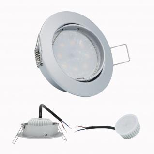 LED Einbauleuchte Chrom matt 5W 4000K 230V Modul flache Einbautiefe 35mm