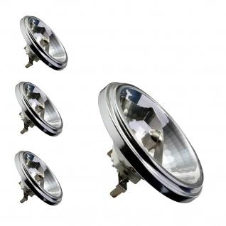 4er Set Halogen Reflektor QR 111 24° 50W G53 12V 111mm Silber