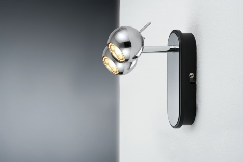 Paulmann 600.38 Spotlights Sphere LED Balken 1x(2x5W) Chrom 230V Metall