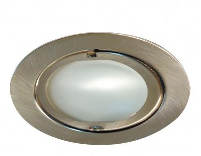 Paulmann Möbel Einbauleuchte Set Klipp Klapp 3x20W 70VA 230/12V G4 72mm Eisen gebürstet/Stahl/Glas - Vorschau 1