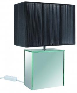 794.52 Paulmann Tischleuchten Table&Desk Mirror&String Tischl. E14 max.1x40W Schwarz 230V Spiegel/Stoff