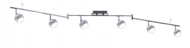 Paulmann 603.63 Spotlight Scoop LED 6x4, 6W Chrom 230V Kunststoff